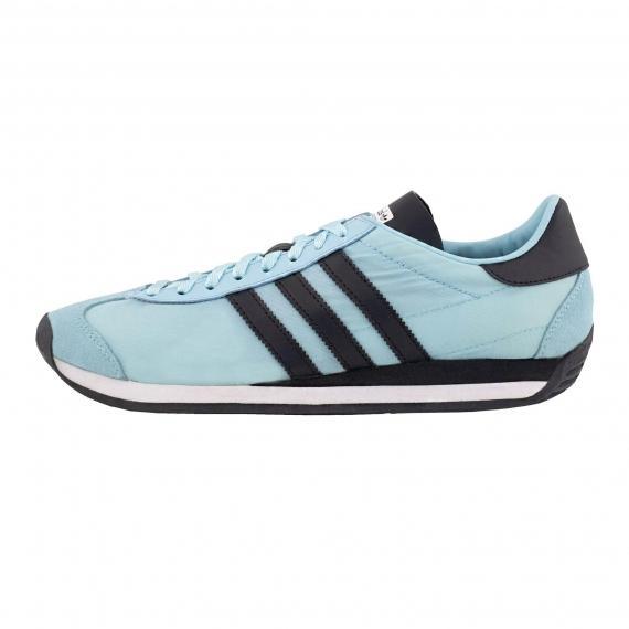 کفش اسپرت پسرانه دخترانه جدید آدیداس اوجی کانتری آبی رنگ مخصوص پیادهروی و ورزش مدل S79108
