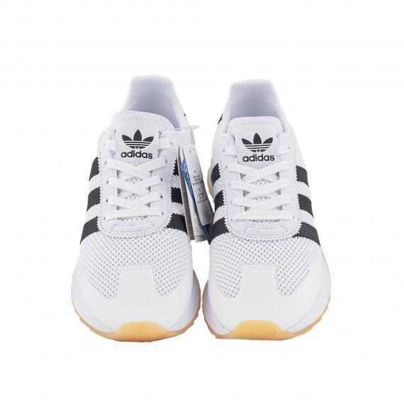 خرید آنلاین کفش مخصوص پیادهروی مردانه زنانه آدیداس فلش بک سفید مشکی سه خط مدل BA7760   اورجینال پل