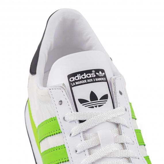 خرید و قیمت کفش اسپرت پسرانه دخترانه آدیداس اوجی کانتری سفید سبز جدید مدل S79109