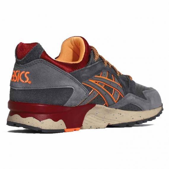 جدیدترین کفش اسپرت رانینگ و پیاده روی مردانه و زنانه اوریجینال تایگر اسیکس ژل لایت قرمز طوسی رنگ بند دار