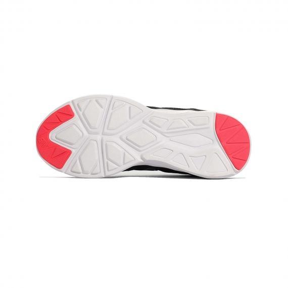 زیره طبی کفش اصل نیو بالانس از جنس لاستیک سفید شیار دار با دو قسمت صورتی در ابتدا و انتها زیره