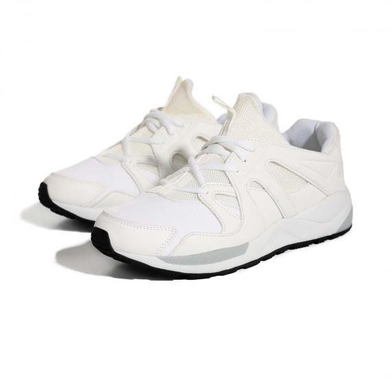 خرید کفش پیاده روی زنانه و مردانه سفید با قیمت مناسب و کیفیت عالی پونی PONY BX 334 W جفت شده از کنار