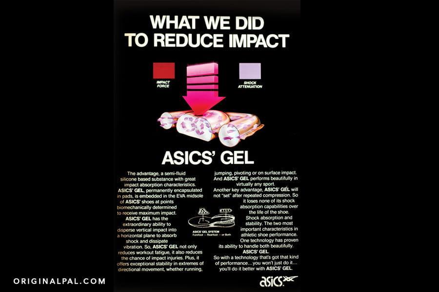 پوستر شرکت اسیکس درمورد فناوری ژل