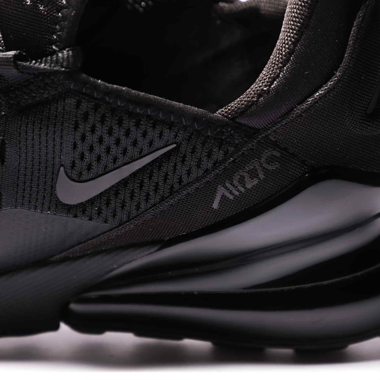 6_.کفش اسپرت و ورزشی نایک ایر مکس 270 مشکی | Nike AirMax270 BQ5776-001 | کتونی اورجینال پارچه ای مشکی