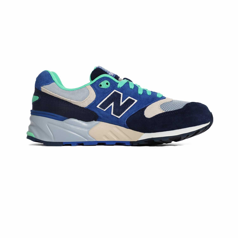 2_.نیوبالانس الیت New Balance ML999OBB | کفش دخترانه سبز آبی | کتونی پسرانه سالنی رنگی | کتانی لاغری
