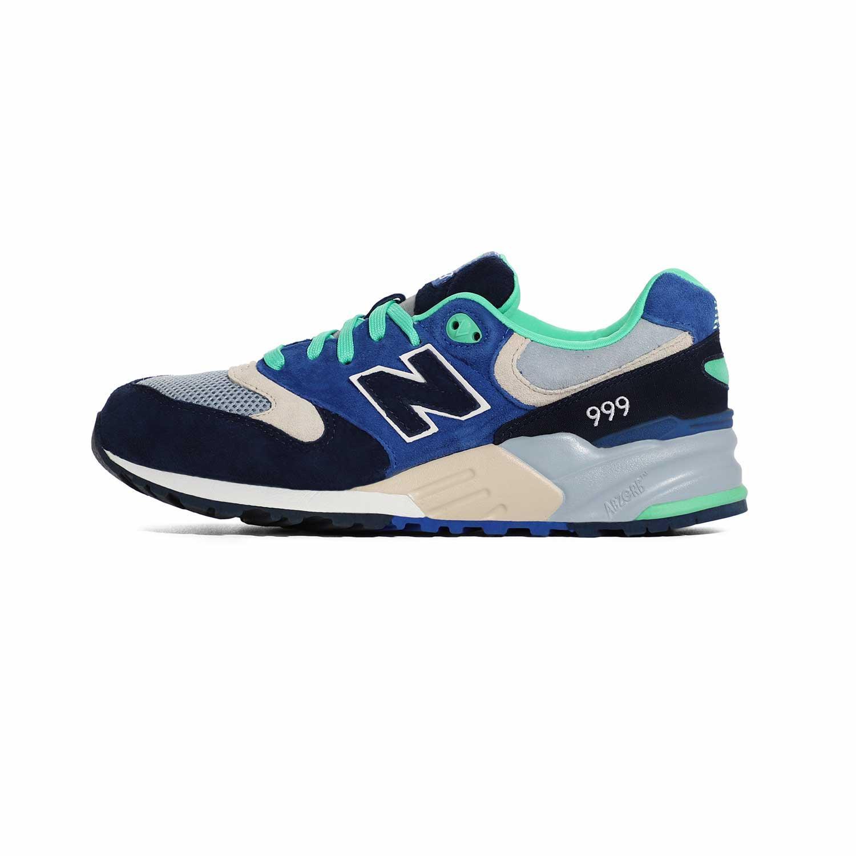 1_.نیوبالانس الیت New Balance ML999OBB | کفش دخترانه سبز آبی | کتونی پسرانه سالنی رنگی | کتانی لاغری