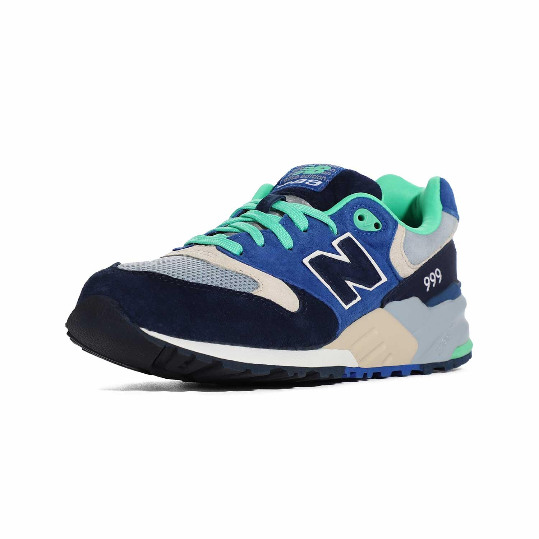 4_.نیوبالانس الیت New Balance ML999OBB | کفش دخترانه سبز آبی | کتونی پسرانه سالنی رنگی | کتانی لاغری